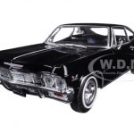 1965 Chevrolet Impala SS 396 Black Street Car 1/24 Diecast Car Model by Welly