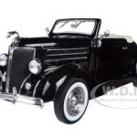 1936 Ford Deluxe Cabriolet Black 1/24 Diecast Car Model by Welly