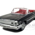1963 Chevrolet Impala Convertible Black 1/24 Diecast Car Model by Welly