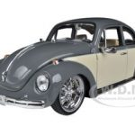 Volkswagen Beetle Low Rider Grey 1/24 Diecast Car Model by Welly