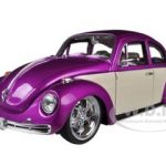 Volkswagen Beetle Low Rider Purple 1/24 Diecast Car Model by Welly