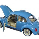 Volkswagen Old Beetle Hard Top Light Blue 1/24 Diecast Model Car by Welly