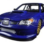 Subaru Impreza WRX STI Blue 1/24 Diecast Model Car by Welly