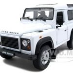 Land Rover Defender White Diecast Car Model 1/24 Die Cast Car by Welly