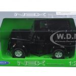 Land Rover Defender Black 1/24 Diecast Model Car by Welly