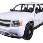 2008 Chevrolet Tahoe Unmarked Police Car White 1/24 Diecast Model Car by Welly