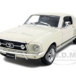 1967 Ford Mustang GT Cream 1/24 Diecast Model Car by Welly