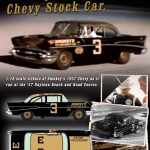 1957 Chevrolet Bel Air Stock Car Smokey Yunicks #3 Black and Gold Best Damn Garage in Town Driven by Paul Goldsmith Limited Edition to 930pcs 1/18 Diecast Model Car  by Acme