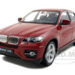 2011 2012 BMW X6 Red 1/24 Diecast Car Model by Welly