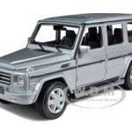 Mercedes G Class Silver 1/24 Diecast Car Model by Welly
