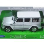 Mercedes G Wagon Class White 1/24 Diecast Model Car by Welly