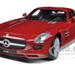 Mercedes SLS AMG Red 1/24 Diecast Model Car by Welly