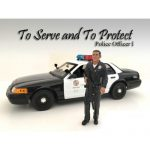 Police Officers 4 Piece Figure Set For 1:18 Scale Models by American Diorama