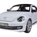 Volkswagen New Beetle With Sunroof White 1/24 Diecast Car Model by Welly