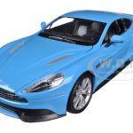 Aston Martin Vanquish Blue 1/24 Diecast Car Model by Welly