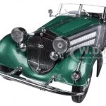 1939 Horch 855 Roadster Green 1/18 Diecast Car Model by Sunstar