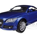 2007 Audi TT Coupe Blue 1/24 Diecast Car Model by Motormax