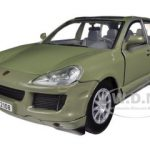2008 Porsche Cayenne Green 1/24 Diecast Car Model by Motormax