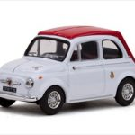 1964 Fiat Abarth 595 SS White/Red 1/43 Diecast Model Car by Vitesse