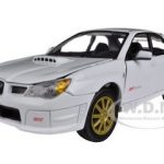 Subaru Impreza WRX STI White 1/24 Diecast Car Model by Motormax