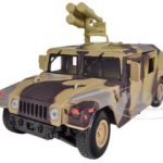 Humvee Military Starburst Missile Carrier Camouflage/Brown 1/24 Diecast Model by Motormax