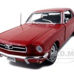 1964 1/2 Ford Mustang Hard Top Red 1/18 Diecast Model Car by Welly
