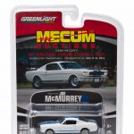 1965 Ford Shelby Mustang GT350 Fastback White Mecum Exclusive Limited Edition to 1008pcs 1/64 Diecast Model Car by Greenlight