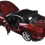 Ferrari California T Burgundy Closed Top 1/24 Diecast Model Car by Bburago