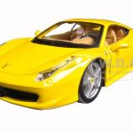 Ferrari 458 Italia Yellow 1/24 Diecast Model Car by Bburago