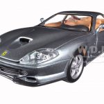 Ferrari 550 Maranello Grey 1/24 Diecast Model Car by Bburago