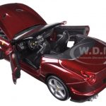 Ferrari California T Burgundy Open Top 1/24 Diecast Model Car by Bburago