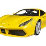 Ferrari 488 GTB Yellow 1/24 Diecast Model Car by Bburago