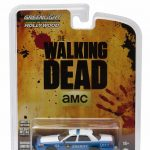 Rick and Shanes 2001 Ford Crown Victoria Police Interceptor The Walking Dead TV Series (2010-2015) 1/64 Diecast Model Car by Greenlight