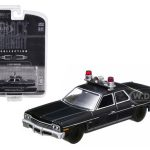 1974 Dodge Monaco Police Black Bandit 1/64 Diecast Car Model by Greenlight