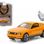 2009 Ford Mustang Grabber Orange Mustang 45th Anniversary Collection 1/64 Diecast Model Car by Greenlight