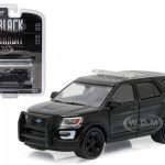 2016 Ford Police Utility Interceptor Black Bandit 1/64 Diecast Model Car  by Greenlight