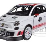 Fiat Abarth 500 #49 Assetto Course 1/24 Diecast Car Model by Bburago