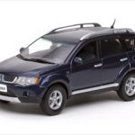 Mitsubishi New Outlander Thunder Blue 1/43 Diecast Model Car by Vitesse