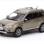 Mitsubishi New Outlander Platinum Beige Metallic 1/43 Diecast Model Car by Vitesse