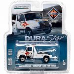 International Durastar 4400 Tow Truck White with Flames 1/64 Diecast Model by Greenlight