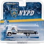 2013 International Durastar 4400 NYPD Flatbed Tow Truck 1/64 Diecast Model by Greenlight