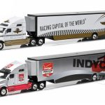 2015 Kenworth T2000 Transporter Verizon Indy Car Series And 2015 Kenworth T2000 Transporter Indianapolis Motor Speedway 2 Truck Set 1/64 by Greenlight