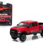 2017 Dodge Ram 2500 Pickup Truck Flame Red with Black Power Wagon Hobby Exclusive 1/64 Diecast Model Car  by Greenlight