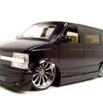 Chevrolet Astro Van Black Diecast Model 1/18 Diecast Model Car by Jada