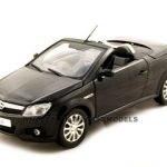 Opel Tigra Convertible Black 1/18 Diecast Car Model by Norev