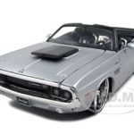 1970 Dodge Challenger R/T Convertible Silver Pro Rodz 1/24 Diecast Model Car by Maisto