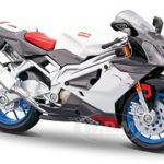 Aprilia RSV 1000 White Motorcycle 1/12 Diecast Model by Maisto