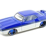 1969 Pontiac Firebird Blue / White All Stars 1/24 Diecast Model Car by Maisto