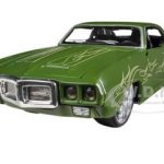 1969 Pontiac Firebird Matt Green All Stars 1/24 Diecast  Model Car by Maisto