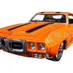 1969 Pontiac Firebird Orange Classic Muscle 1/24 Diecast Model Car by Maisto